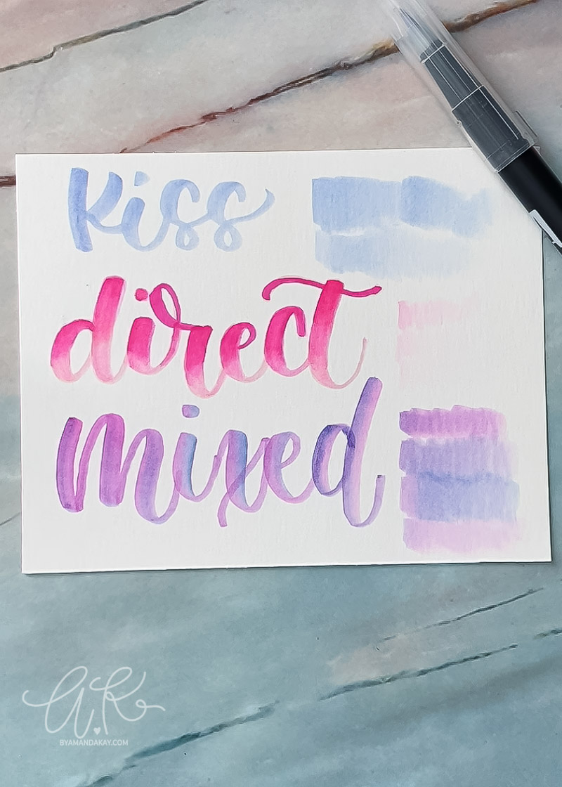 How to Use Tombow Colorless Blender Brush Pen ~ 3 Ways!