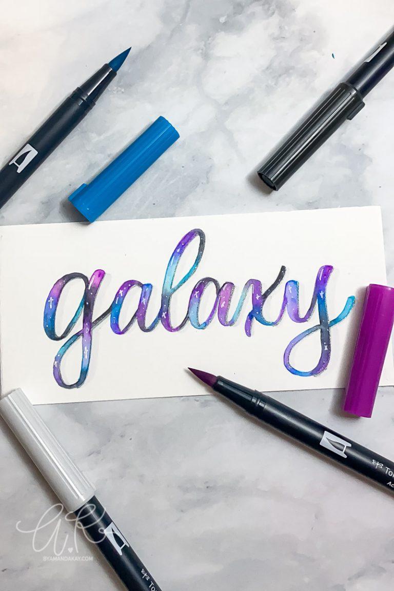 Galaxy Lettering Tutorial