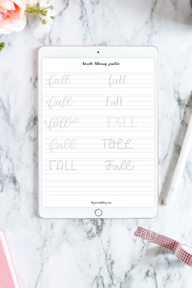 Hand Letter Fall 10 Ways Free Worksheet