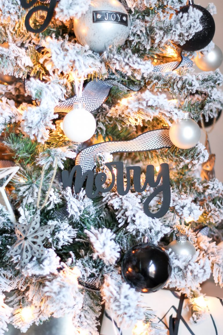 Hand Lettered Christmas Word Ornaments