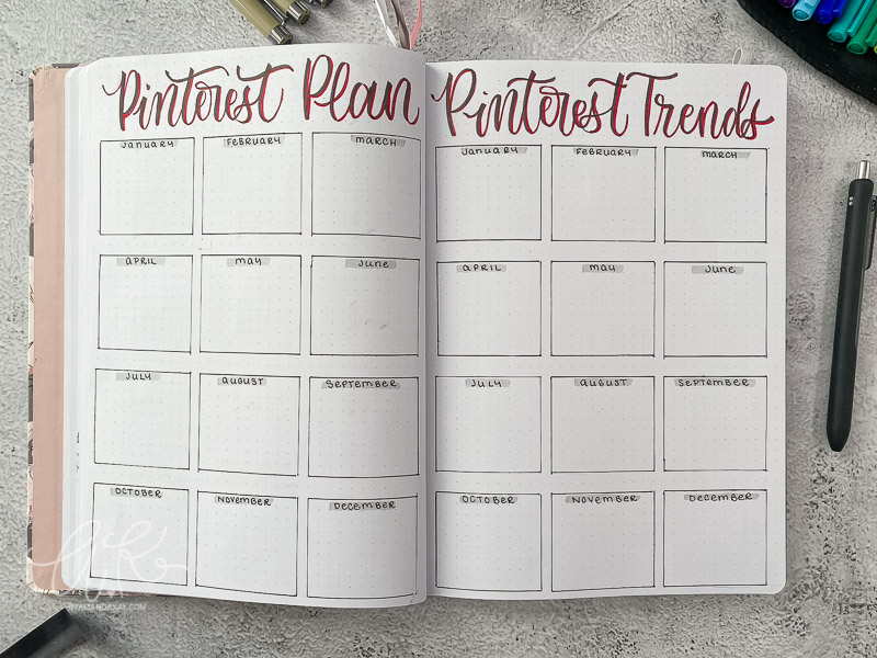 Pinterest planner for bullet journal