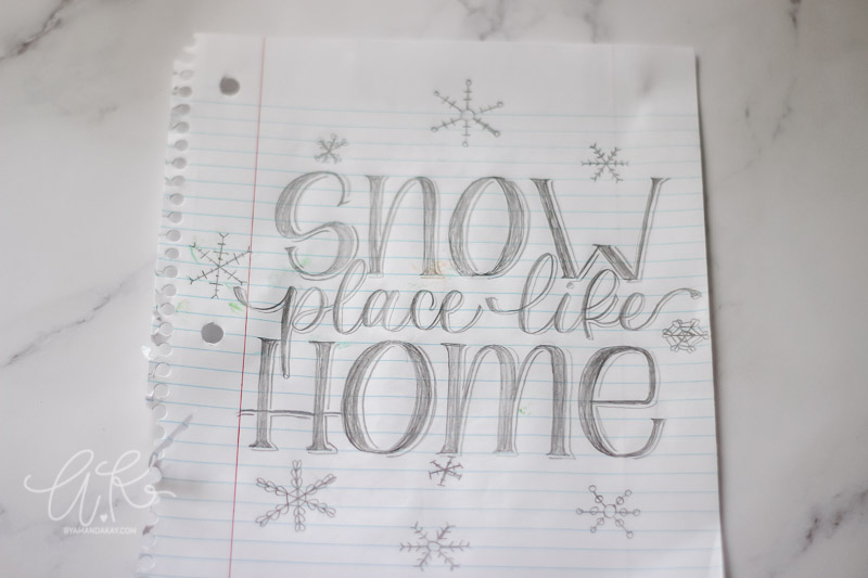 snow place like home rough sketch