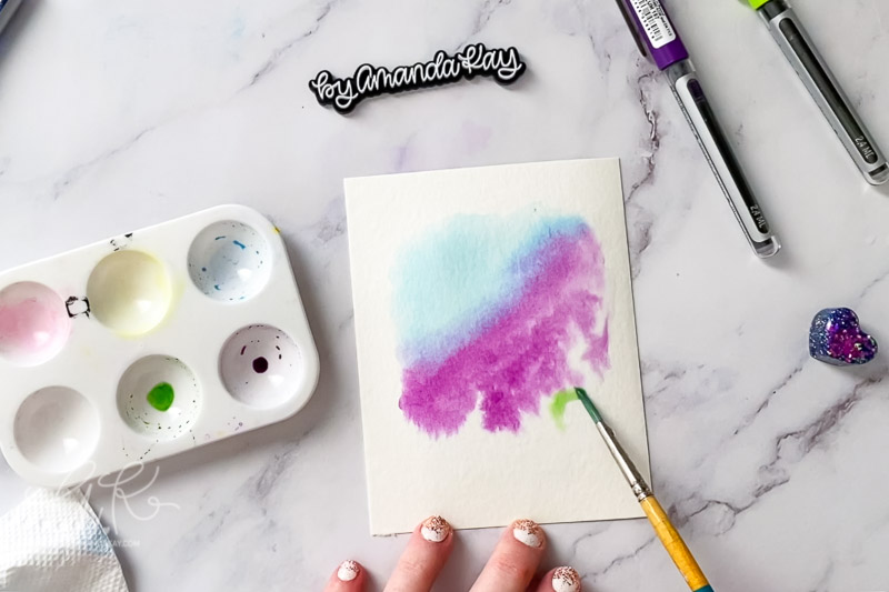 creating watercolor background wet on wet