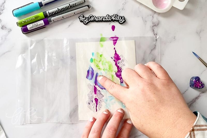 watercolor smoosh in action